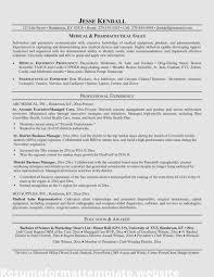 Pharmaceutical Sales Resume Template Representative Sample Job