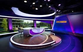 Tv Studio Lighting Design Bbc Wimbledon Tv Studio Set Design Gallery