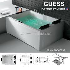 Massage Jet Bathtub With Tv/ Whirlpool Bathtub For Two Person/2 Person  Indoor Hot Tub Q-d40039 - Buy Bathtub2 Person Indoor Hot Tub,Whirlpool  Bathtub ...