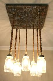 chandeliersnautical rope chandelier best mason jar lighting images on lights orb