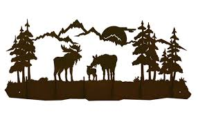 Moose Coat Rack Moose Family Scene Six Hook Metal Wall Coat Rack 12