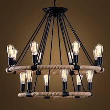 details about vintage chandelier lobby rope pendant lighting dinning room led ceiling fixtures