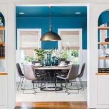 blue dining room. Wonderful Dining Contemporary Blue Living And Dining Room With White Builtin Shelves And