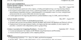 Computer Science Resume Template Computer Science Resume Sample ...