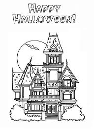Small Picture Halloween Coloring Pages Printables Haunted House Coloring