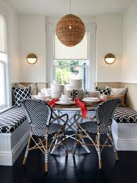 dining room banquette furniture. Serena-and-Lily-Westport-Built-in-Banquette-Charlotte-dining-table -black-and-white Dining Room Banquette Furniture O
