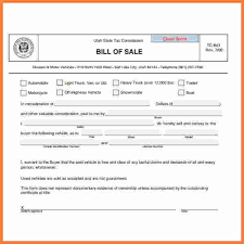 Bill Of Sale For Car Adorable 48 Vehicle Bill Of Sale Utah Paystub Format