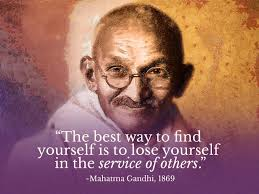 timeless customer service quotes to live by transcosmos mahatma gandhi the best way to yourself is to lose yourself in the service