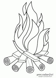 Small Picture Campfire Print Color Fun Free printables coloring pages
