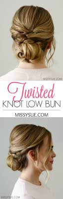 Hair Style Low Bun twisted knot low bun missy sue 7391 by wearticles.com