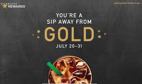 limited time get starbucks gold status after just one purchase one mile at a time