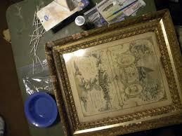 picture of cleaning the frame