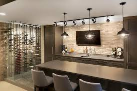 basement bar lighting. contemporary basement bar with track lighting view full size t