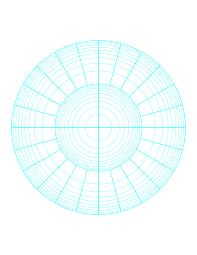 Polar Graph Paper Logarithmic Two Decades Fifteen