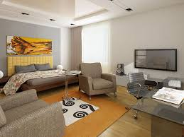 Unique Interior Design For One Bedroom Apartment With Sofa Design For One Room Apartment