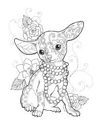 Chihuahua Chic Art Print Kleurplaat Dieren Kleurplaten Dieren