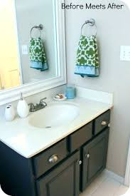 painting bathroom vanity repaint can i paint an old refinish countertop