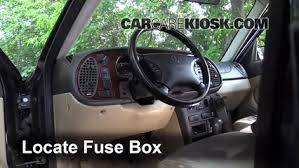 interior fuse box location 1999 2003 saab 9 3 2002 saab 9 3 se locate interior fuse box and remove cover 3