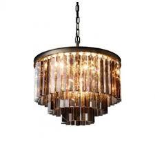 rh 1920s odeon clear glass fringe round 3 tier chandelier design
