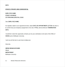 Printable Termination Letter Template Sample Employee India ...