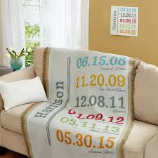 Personalized Throw Blankets at Personal Creations & Fun Family History Throw Adamdwight.com