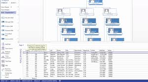 Visio Pro 2013 Training How To Link Org Charts To Excel Data