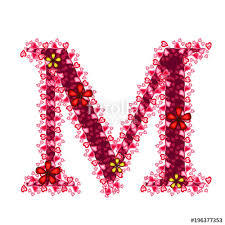 Pictures Of Hearts And Flowers Alphabet Of Hearts Red Letter With Hearts And Flowers For
