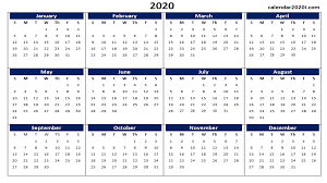 2020 Calendar Png Transparent Images Png All