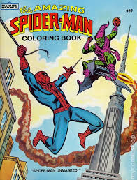 amazing spider man coloring book sc 1983 marvel books 1 1st