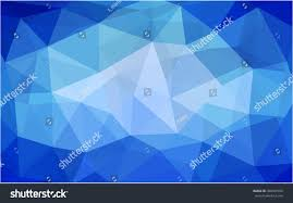 Light Blue Triangle Light Blue Triangle Mosaic Template Brandnew Stock Vector