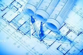 architecture blueprints. Architecture Blueprints Background Royalty-free Stock Photo L