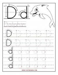 Letter Tracing Templates Free Printable Letter D Tracing Worksheets For Preschool Preschool