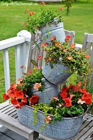 How Gorgeous Is This Topsy Turvy Galvanized Bucket Planter!? This One Is  The Perfect