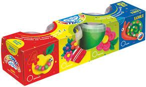 <b>Lori Тесто для лепки</b> Пластишка 4 цвета Тдл-007 — купить в ...