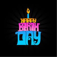 Cake Shape Happy Birthday Design Vector Free Vector Graphic Download
