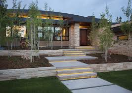column lighting outdoor exterior contemporary with stair lighting terraced lighting design