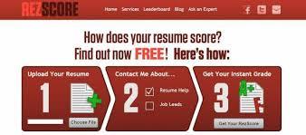 RezScore Grade Your Resume StartUpLift Mesmerizing Resume Score