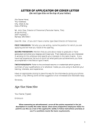 Best Ideas Of Sample Cover Letter Without Job Opening For Your