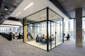 glass walls office. Glass Office Standing Partition Walls Interiors