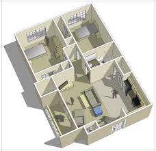 >apartment floor plans campus west near gvsu allendale 2 bedroom 1 bath floor plan