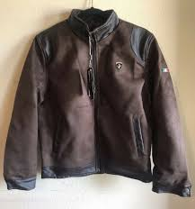 details about vg world collection men s faux leather jacket brown sz s