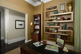 wall mounted home office. Mocha Colored Wall With Unique Modern Mounted Bookcase Designs For Small Executive Home Office Ideas A