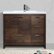 modern single bathroom vanity. Almendarez Free Standing Modern 41\ Single Bathroom Vanity G