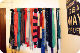 Brilliant Diy Scarves With Diy Scarf Hanger Crafthubs in Scarf Holder