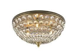 crystal basket flush chandelier