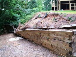 image of how to build a retaining wall with