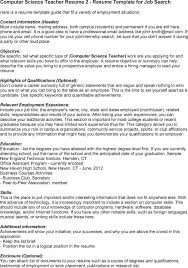 Ms In Computer Science Resume Sales Computer Science Lewesmr