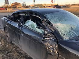 he felt he was going to be rear ended and braced for the impact one person in the charger was transported by ems to a hospital with non life threatening