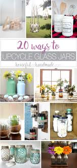 Ways To Decorate Glass Jars 100 Ways To Upcycle Glass Jars Bottles A Houseful Of Handmade 92