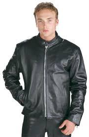 sku ij515 mens black high grade motorcycle racer leather jacket black